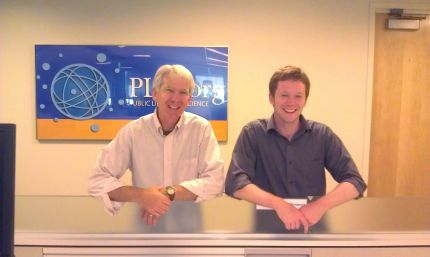 Steve and Alex at PLoS in San Francisco (6/3/2012).