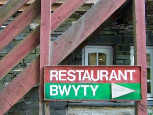 Restaurant Bwyty sign by Dave Goodman