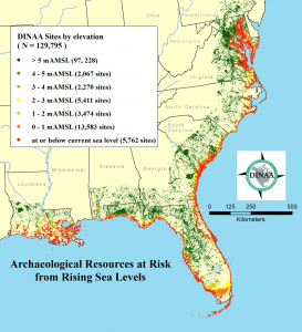 PLOS ONE: Sea Level Rise and Archaeological Site Destruction