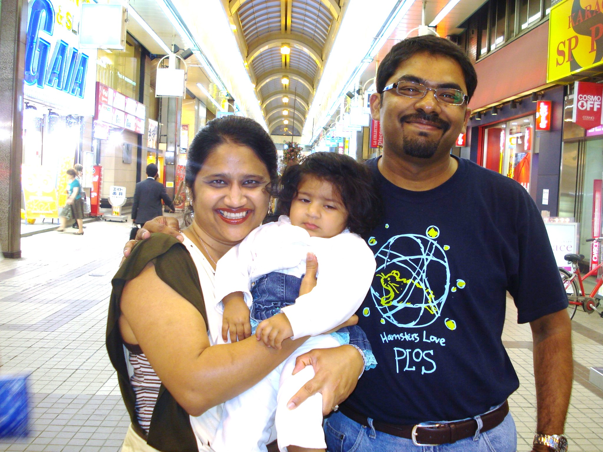 Nikki Pant Pai, Madhu Pai and their daughter, Annika