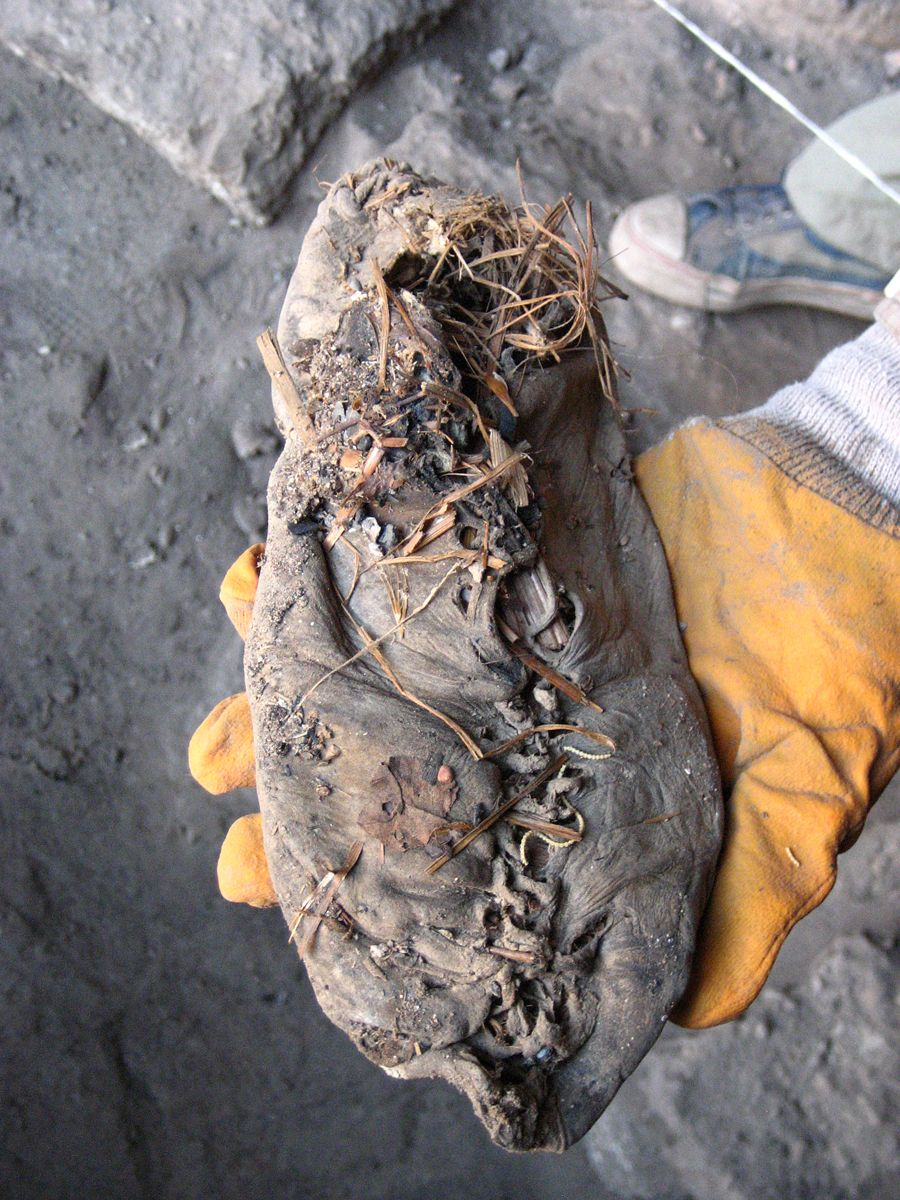 Leather shoe found at Areni-1