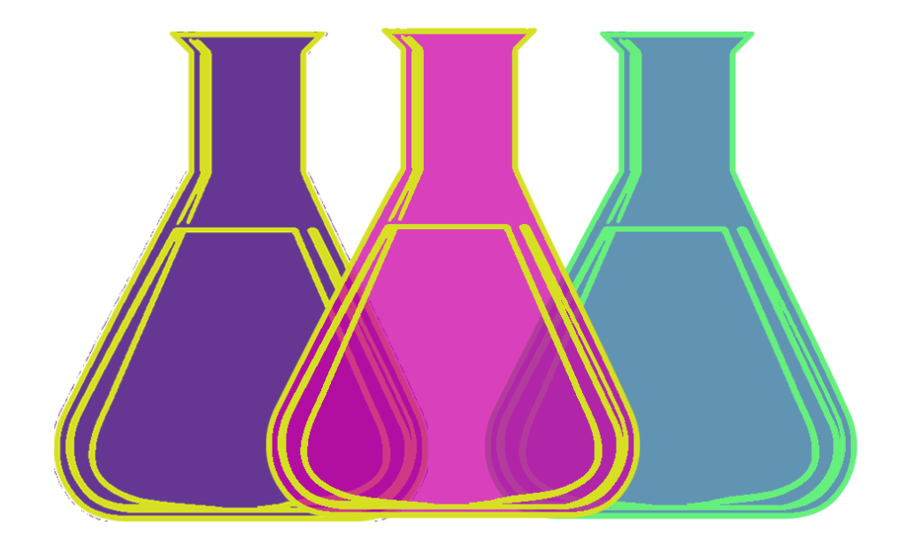 3 protocols beakers